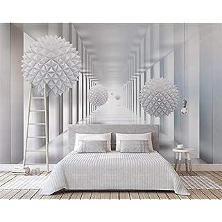 CHENYAN Wallpaper Hintergrundbild Mural Wallpaper Home Decor Abstract Architectural Polygon Ball 3D Stereo Space Tv Background Wall Murals 3D Wallpaper,W250Cm*H175Cm