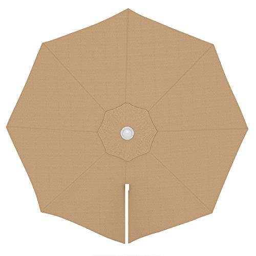 PARAMONDO Toile de rechange pour parasol avec Air Vent pour parasol à mât excentré Parapenda (3,5m / ronde), crème