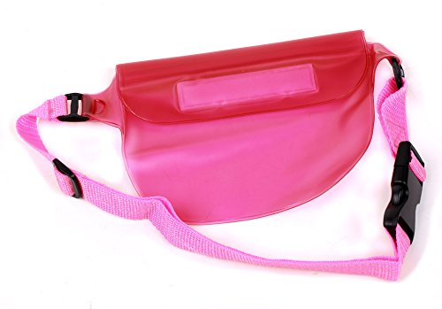 duragadget-all-purpose-pink-waterproof-waist-bag-fanny-pack-for-intova-sport-pro-hd-video-camera-ze2
