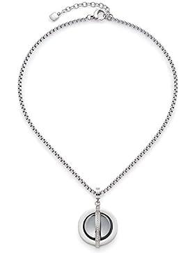 Leonardo Jewels Damen Kette mit Anhänger Elegia Edelstahl Glas mehrfarbig 40 cm   016171