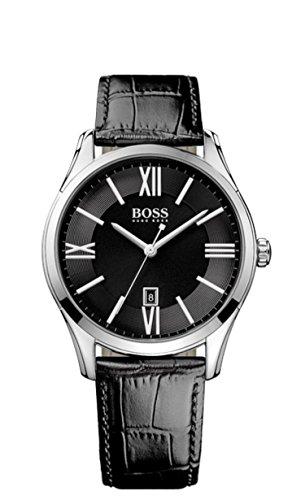Hugo Boss Herren-Armbanduhr Ambassador Round Analog Quarz Leder 1513022