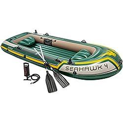 INTEX Set bateau 4 places Seahawk 4 (rames et gonfleur inclus) 351x145x48cm