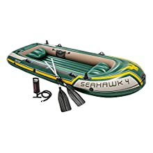 Intex Seahawk 4 Boat Set - four man inflatable dinghy with oars and pump #68351