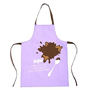 Tablier et toque pour enfant pour cuisiner en famille - Violet