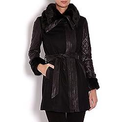 Morgan 142-gefrou.n Abrigo, Negro (Noir), (Talla del Fabricante Taglia Produttore 42) para Mujer