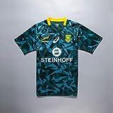 CHERSH Coupe du Monde 2019 de Rugby sud-Africain Gas Jersey Shirt Supporters de Football à Manches Courtes Chemises Rugby Fan Formation Séchage Rapide Sport GreenA-XXL