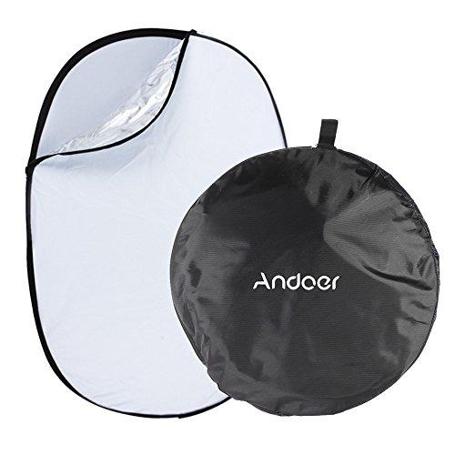 Andoer - Riflettori pieghevoli fotografici 5 in 1, ovali, 40.2 x 36.2 x 5.2 cm