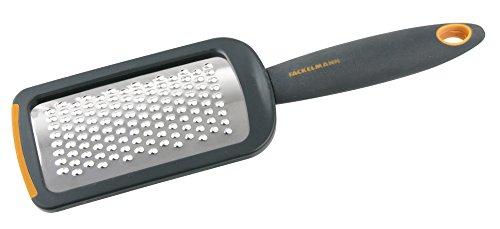 Fackelmann Soft Rallador de Cocina Pequeño, Rallador con Mango, Rallador Manual, Acero Inoxidable,26x7,4cm...