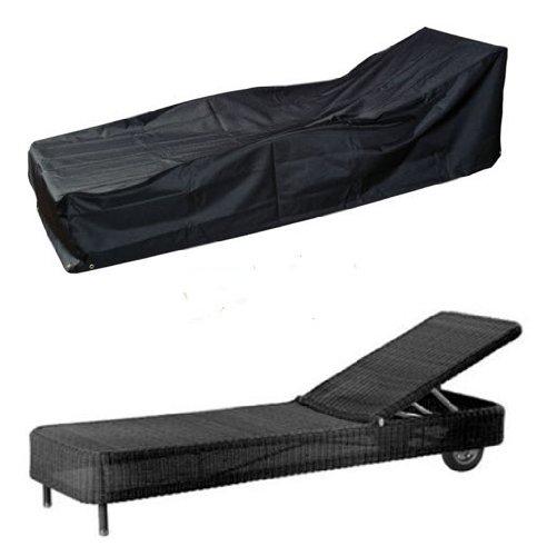 HBCOLLECTION Deluxe Polyester Schutzhülle Schutz-Plane für Gartenliege Liegestuhl 220cm