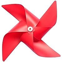 LUOEM 10 unids molino de viento plástico molinete del viento del viento que cuelga la decoración de la guirnalda decoraciones de la ducha del bebé jardín partido del césped proveedor (rojo)
