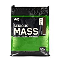 OPTIMUM NUTRITION Serious Mass Weight Gainer Protein Powder, Chocolate, 12 Pound