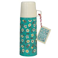 dotcomgiftshop 350ml Stainless Steel Flask - Choice Of Design (Daisy)