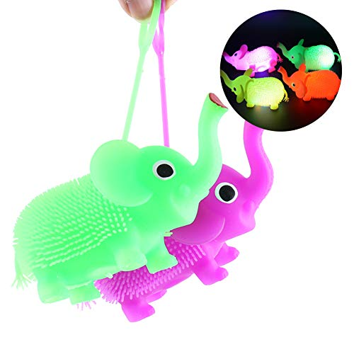 ybbghio Juguete De Calabaza con Forma De Elefante De Globo De Pelo Brillante LED, Juguete Sensorial para Niños Adultos Color Aleatorio