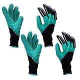 Yardsky 2 paia guanti da giardino, guanti da giardinaggio con artigli da scavo Sensibilità per le faccende domestiche e domestiche, guanti protettivi per la sicurezza sul lavoro