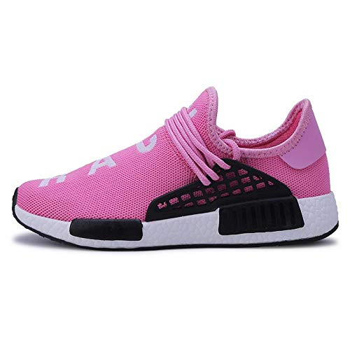 WDDGPZYDX Calzado Deportivo Zapatillas Hombre Zapatillas Outdoor Ultra Raises Zapatillas Tenis Transpirable Casual Zapatillas Superstar Carrera Humana,Rosa,10.5