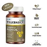 TrueBasics Omega-3 Fish Oil Triple Strength with 1250mg of Omega