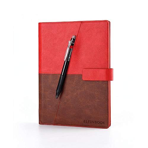 YSZDM Smart Notebook, Rocketbook Wave Riutilizzabile Cloud Storage Notebook Scuola Ufficio casa Come diario Notebook Forniture Scrittura memo,Red