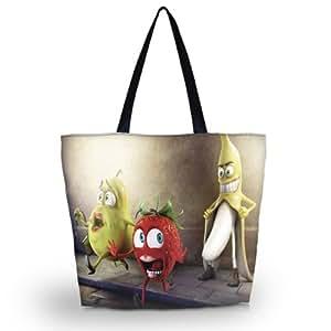 fruits drôle Poignée cas Sac fourre-tout pliable Shopping Bag Sac réutilisable marché de sac d'épaule