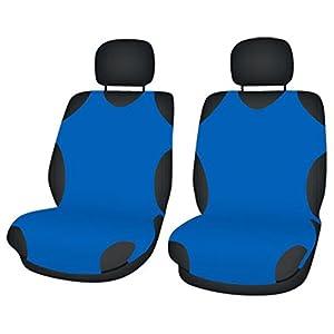 ZentimeX Z708302 Sitzbezüge Vordersitze T-Shirt-Design Baumwolle blau