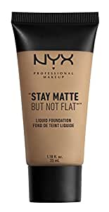 Nyx Professional Makeup Stay Matte But not Flat Foundation Liquid, Caramel, 35ml