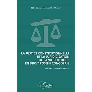 La justice constitutionnelle et la juridicisation de la vie politique en droit positif congolais