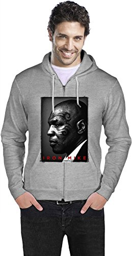 Iron Mike Tyson Tattoo Face Portrait Mens Zipper Hoodie XX-Large