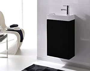 sam badezimmer waschtisch young schwarz badm bel waschplatz g ste wc kleines set mit keramik. Black Bedroom Furniture Sets. Home Design Ideas