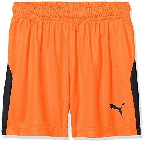 PUMA Kinder Liga JR Shorts, golden Poppy Black, 116 -