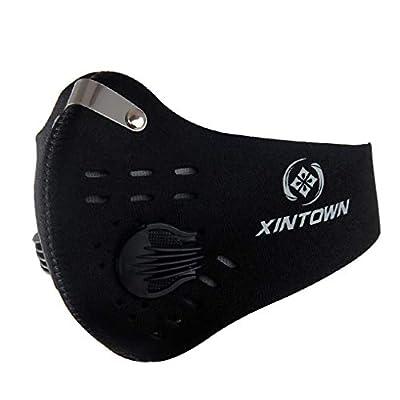 GUKOO Staubmasken Verschluß Ventil Feinstaubmaske Fahrrad Masken Atemschutzmaske mit Ersatzfilter PM2.5 alle Outdoor-Aktivitäten von GUKOO - Outdoor Shop