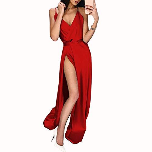 Sexy Designer Kleider (Ariymap Damen Sexy Drucken Sommer Kleid Ärmellos Quaste Cocktailkleider Partykleider Cocktailkleid)