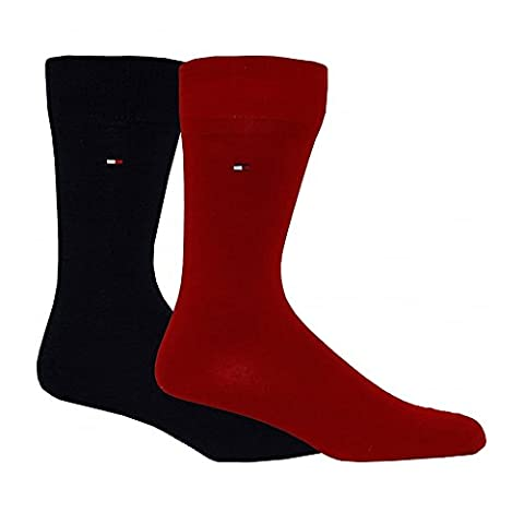 Tommy Hilfiger TH Sock Classic 2P, Chaussettes Homme, Bleu (Tommy Original), 39/42 (Taille Fabricant: 039) (lot de 2)