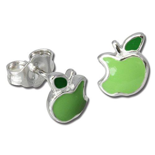 Teenie-Weenie Ohrstecker grün Ohrringe Sterlingsilber Apfel Kinder D1SDO604G -