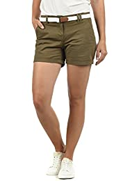5f73c97368d2 DESIRES Chanett Damen Chino Shorts Bermuda Kurze Hose mit Gürtel Stretch