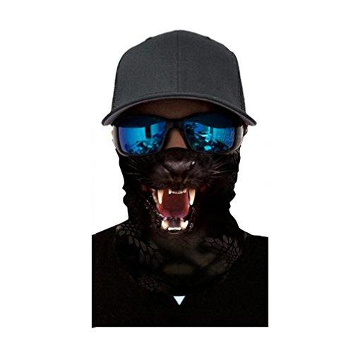 Kxnet Nahtlos Tiergesicht Radfahren Gesichtsmaske,Motorrad Biker Snowboards Halb Gesichtsaske, Staubschutz für Outdoor Trekking Klettern Skateboarden (A)