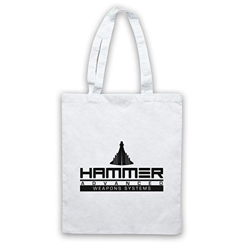 Inspiriert durch Iron Man 2 Hammer Advanced Weapons Systems Inoffiziell Umhangetaschen Weis
