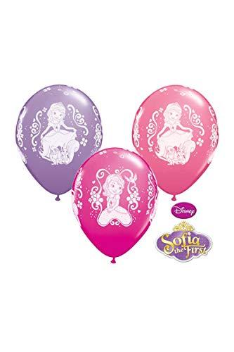 Unbekannt Qualatex 19234Rosenkohl Disney Sofia die Erste rund Besondere Sortiment Latex Luftballons, 12Zoll