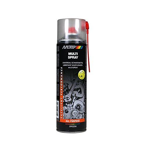 MOTIP Multispray Qualitativ hochwertiges, universelles Öl zum Schmieren, Schützen und Reinigen von Metall- und Gummiteilen, gute Durchdringungswirkung, feuchtigkeitsabweisend, entfernt Öl, Fett, Wachs, Tectyl und Teer, reinigende Wirkung -