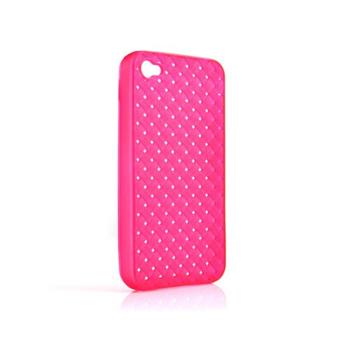System-s Housse en silicone TPU Case Cover Skin Rose transparent pour Apple iPhone 4 4S