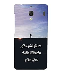 Back Cover for Redmi 1S Not all those who wander are lost