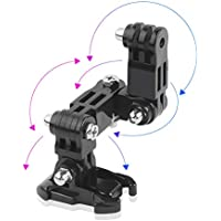 DYTesa Helmet Front Mount, for GoPro Hero 6/5/4 Motorcycle Helmet Chin Bracket Turntable Button Mount Action Cam Accessories