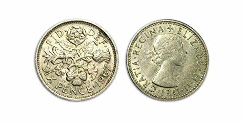 Sammelbare Münzen - 1967 Circulated Six Pence / 6P / Sixpenny Bit -