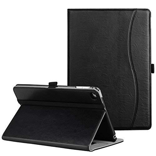 Ztotop iPad Mini 4 Hülle, Premium Kunstleder Business Dünn Leichte Ständer Case Smart Cover für 2015 iPad Mini 4,mit Auto Schlaf/Wach Funktion und Steckplatz,Mehrfachwinkel,Schwarz