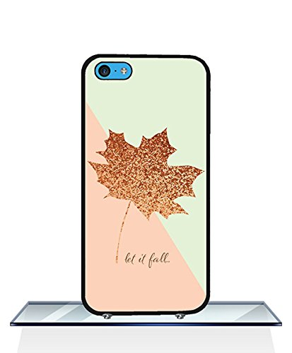 Graceful Iphone 5c Hülle Pink Green Maple Leaf Scratch-Proof for Girls for Iphone 5c Hülle Green Maple Leaf