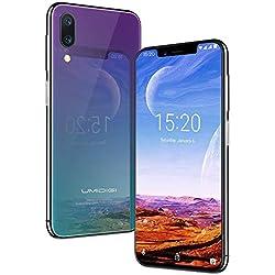 UMIDIGI One Pro, Qi Smartphone Android 8.1 Oreo 4 Go + 64 Go (Extensible 256 Go) Double SIM Téléphone portable 5,9 Pouces 19:9 Écran, Dual SIM 4G VoLTE, Version Globale, Caméra 16 MP, NFC - Twilight