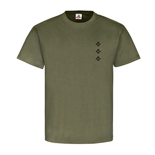 Hauptmann Dienstgrad Bundeswehr BW Abzeichen Schulterklappe Aufschiebeschlaufe Unteroffizier Offizier Mannschafter Truppendienst- T Shirt Herren oliv #15918