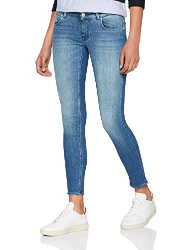 ONLY NOS Damen Skinny Jeans Onldylan Low SK Ank Pushup REA0407 Noos, Grau (Medium Blue Denim), W27/L32