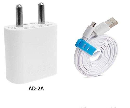 XOLO Era 4K Compatible Charger / Travel Charger / Mobile Charger With 1 Meter USB Cable -White