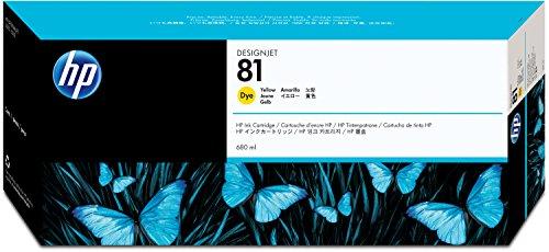Preisvergleich Produktbild HP 81 Gelb Original Tintenpatrone, farbstoffbasiert, 680 ml