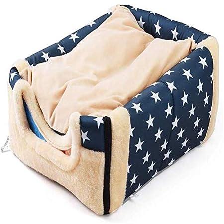 sdgfd 2 In 1 Hundebett Katzenbett Hundehöhle Hundehütte Tragbar Faltbare Hund Zimmer Katzenhöhlen Haustier Haus und Sofa