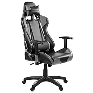 Silla oficina gaming sillon despacho escritorio reclinable giratoria Rojo McHaus